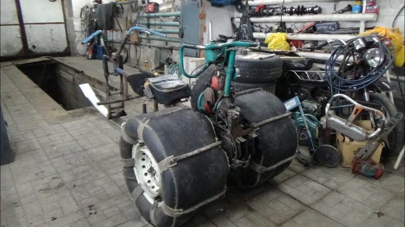 Установка зимней приставки на мотокультиватор Крот