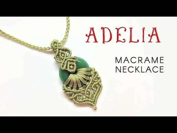 Macrame jewelry set tutorial: The Adelia necklace - Hướng dẫn thắt mặt dây chuyền Adelia