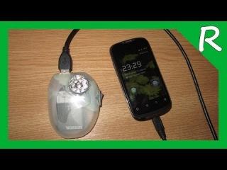 Карманная зарядка USB + фонарь своими руками [Обзор] Pocket USB charger