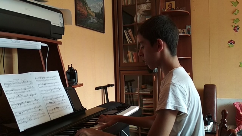 Bach Prelude No.8 Well Tempered Clavier, Book 1 with Harmonic Pedal