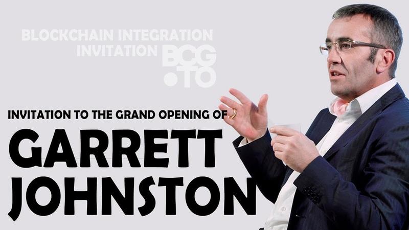Invitation to the Grand Opening of Garrett Johnston | Blockchain Integration Invitation