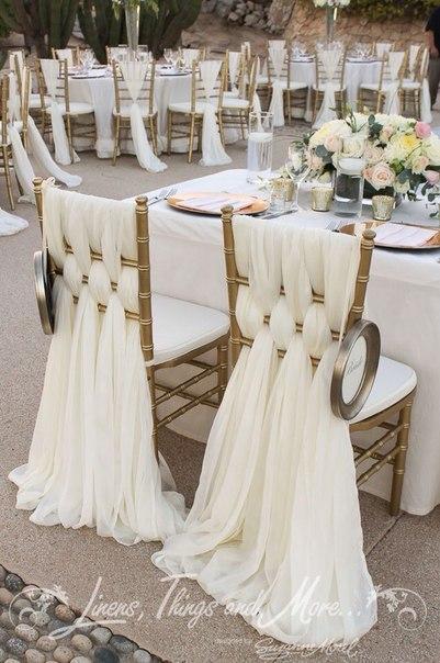 Идеи для торжественного оформления стульев