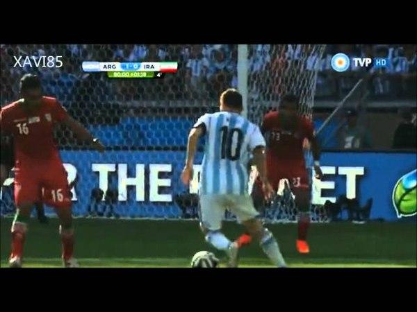 Gol de Messi a Iran relato de Alejandro Fantino