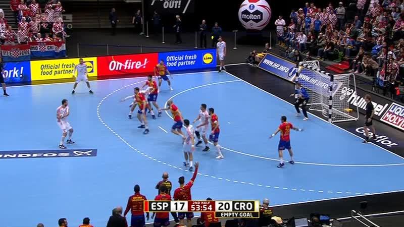 Spanjolska - Hrvatska 19-23 (10-13), Posljednjih 8 minuta (WC GER/DEN 2019), 17.01.2019. HD