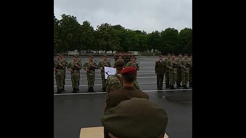 Присяга братишки. Минск 16.06.2018.