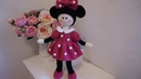 How to crochet minnie dress / doll with minnie mouse outfit