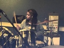Little Simz messing around on drums