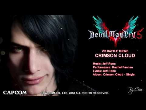 Devil May Cry 5 - OST V Theme Crimson Cloud Lyrics! [4K]