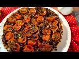 Рецепт постного открытого пирога-перевертыша с чечевицей и помидорами черри