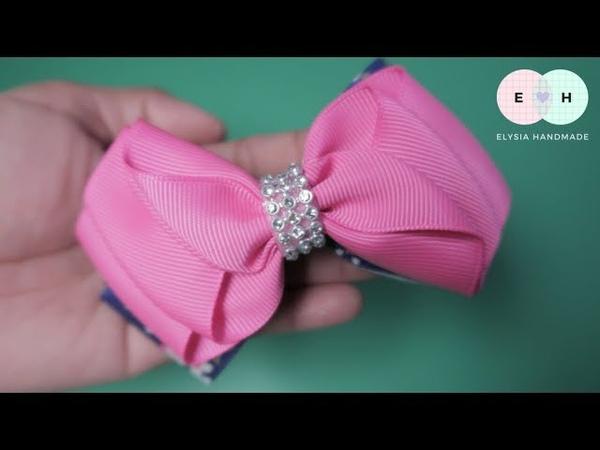 Laço de Fita 🎀 Ruffle Ribbon Bow Tutorial 🎀 DIY by Elysia Handmade