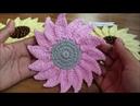 Crochet Big Sunflower Applique