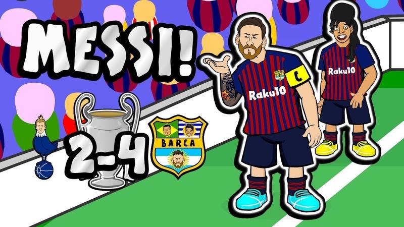 🐐MESSI The Song 🐐 Tottenham vs Barcelona 2 4 Champions League Parody Goals Highlights