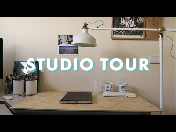 ART STUDIO WORKSPACE TOUR