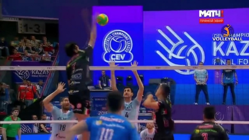 CRAZY Volleyball action Champions League 2018