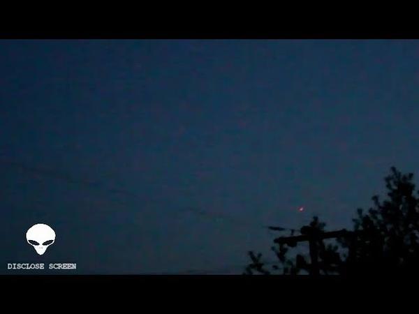 Fast red glowing UFO shows strange flight path over Grimshaw Alberta Canada Disclose Screen