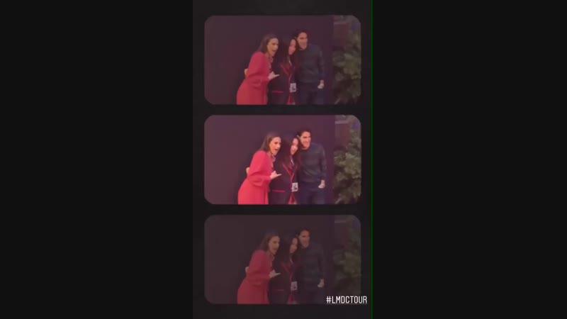 Lea Michele on Darren Criss's Instagram Stories