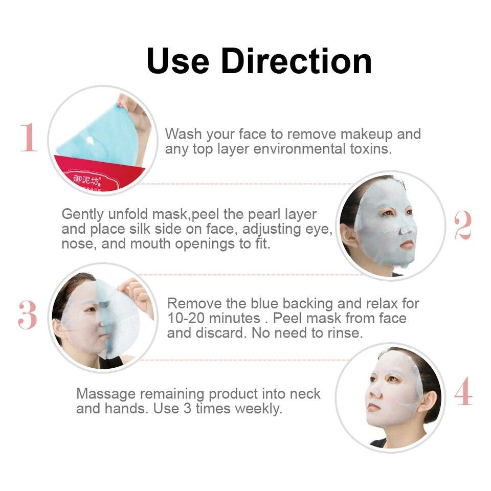 Обзор на упаковку из 7 гранатовых масок для увлажнения кожи лица от морщин и отбеливания из магазина YUNIFANG