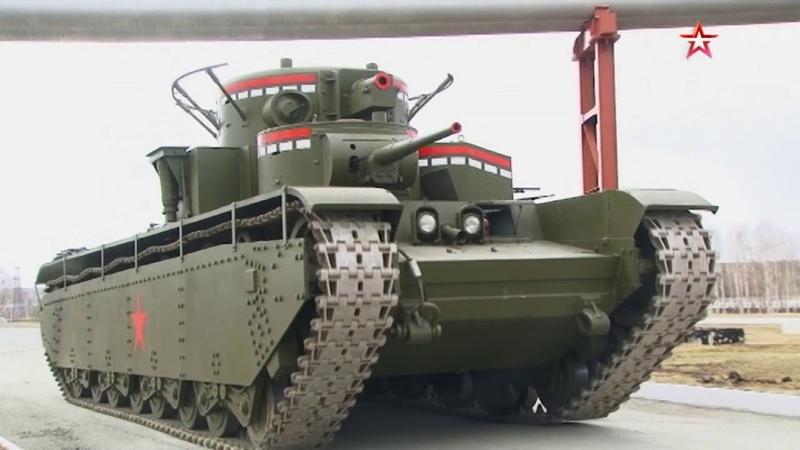 Самый мощный в мире на Урале восстановили уникальный пятибашенный танк Т 35