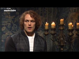 Outlander Cast Plays 'Two Truths & A Lie' for Season 3 RUS SUB