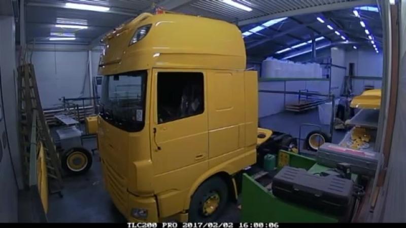 Time-lapse Daf XF Robbertsen Transport