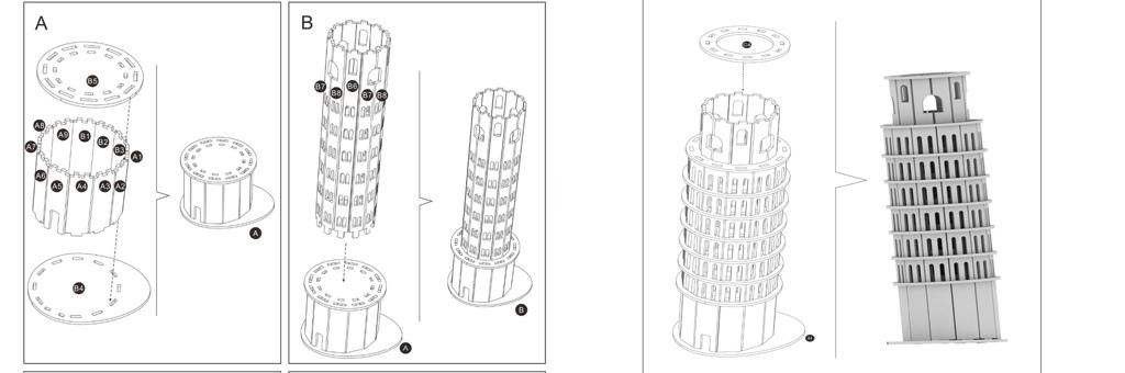Конструктор New-Land Пизанская башня 30068
