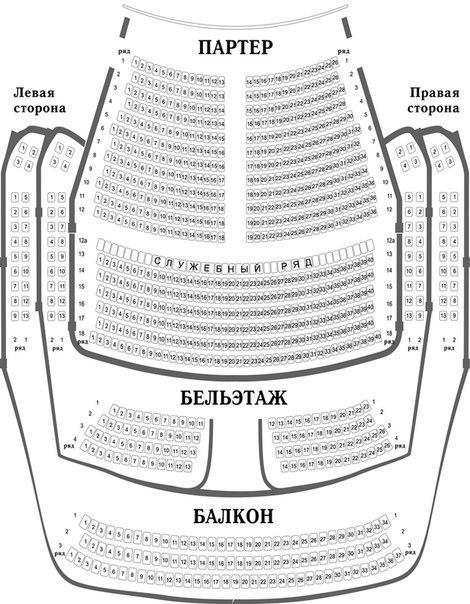 Схема зала Пензенского
