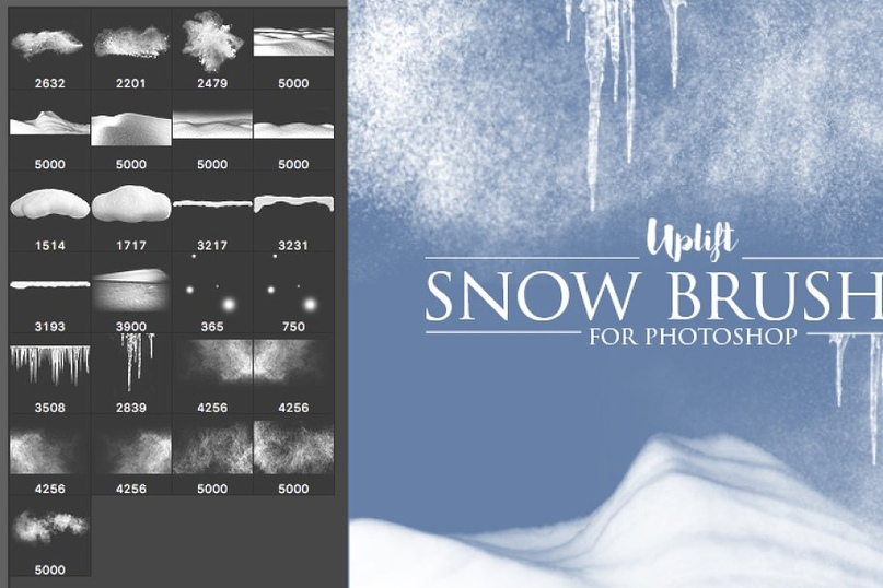 25_Snow_Brushes_for_Photoshop.zip