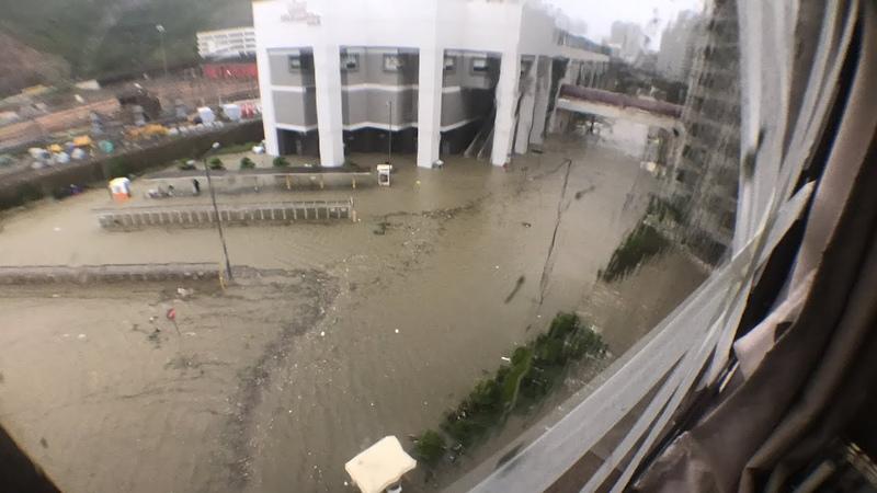 Typhoon Manghut Hong Kong Heng Fa Chuen 颱風山竹香港杏花村