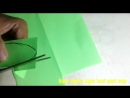 How to make the green paper with tape of leaf part one 1