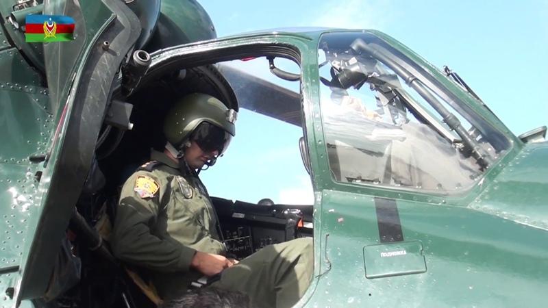 Hərbi Hava Qüvvələri helikopter bölmələrinin taktiki-uçuş məşqləri keçirilib - 17.08.2018