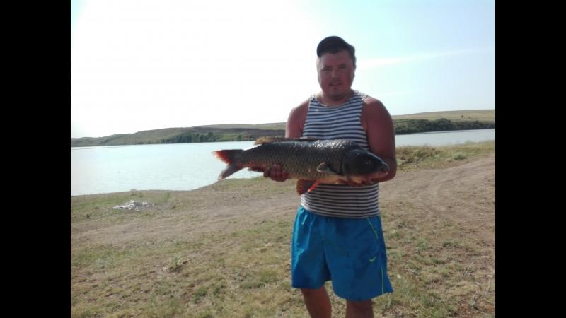 Рыбаки Зимогорья в Ребриково, сазан на 8кг.