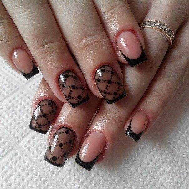 Дизайн ногтей чулок