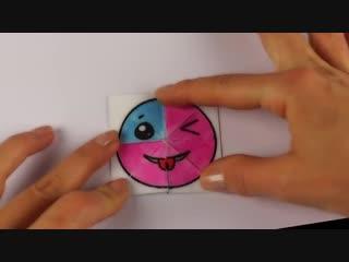 ОРИГАМИ из бумаги _ СМАЙЛЫ меняющие лицо _ Игрушка для детей своими руками