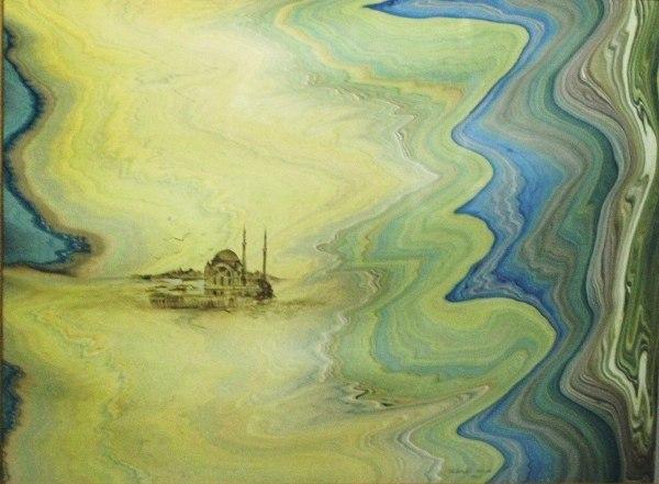 живопись на воде: