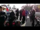 В Крыму пьяный офицер врезался на квадроцикле в авто
