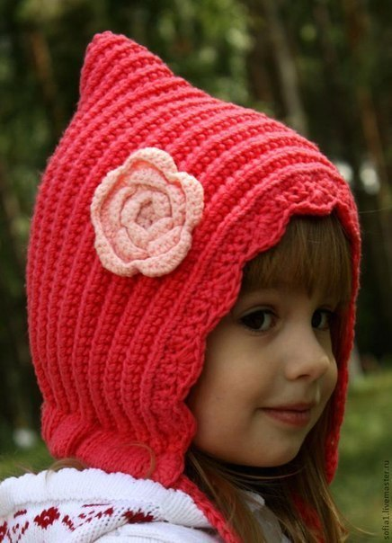 Красная шапочка для девочки. Автор: Sофия детские шапки и игрушки …. (8 фото)