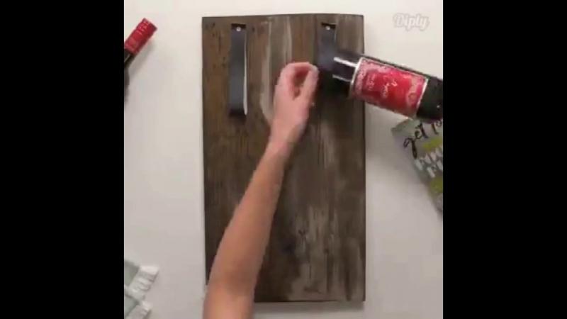 Делаем оригинальную полочку для бутылок