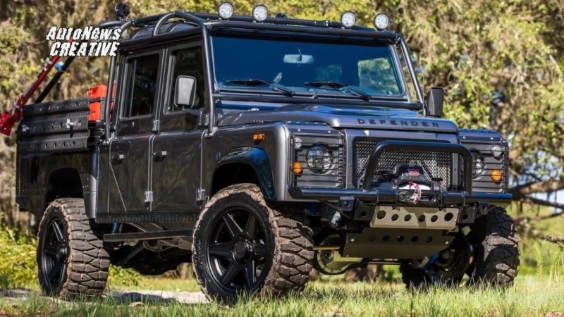"""2017 East Coast Land Rover Defender """"Project Viper"""" With LS3 V8 Under the Bonnet"""