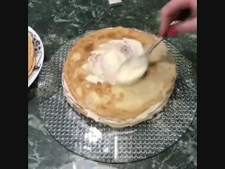 Блинный Тортик с Пломбирным кремом