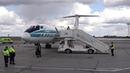 22 05 2019 Встреча Ту 134 Алроса в Толмачево Последний полёт