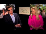 Colin Firth &amp Jacki Weaver Talk 'Magic In The Moonlight'