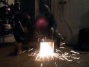 Нано мангал из обрезков металла