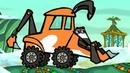 Котяткины машинки - Кто же строит зоопарк Машины-строители - Песни для детей