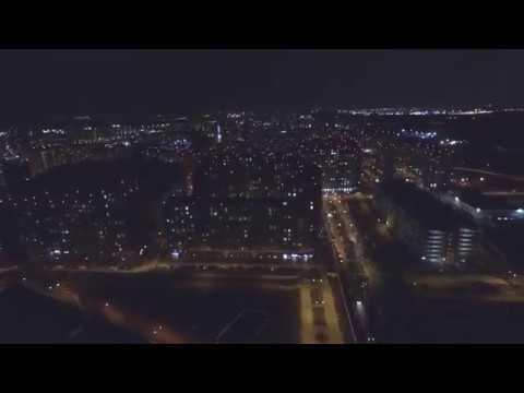 Съемка ночью ЖК Скандинавия А101 Коммунарка Москва