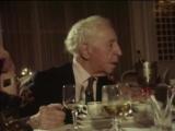 Мстислав Ростропович, Галина Вишневская с Артуром Рубинштейном в ресторане