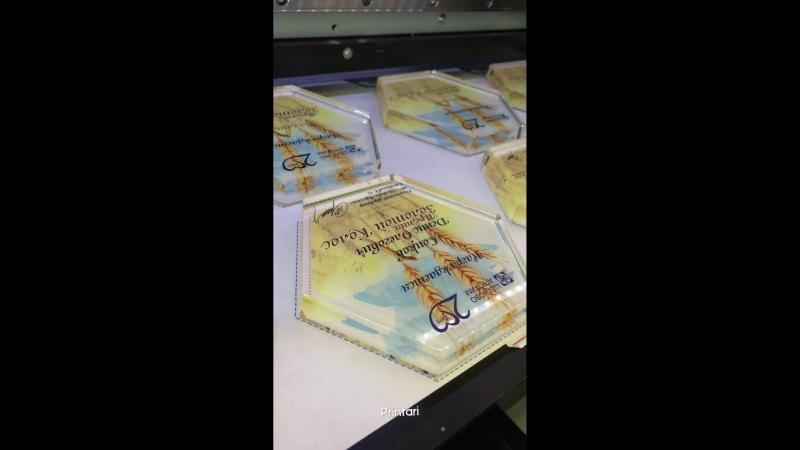 UV печать на стелах из оргстекла