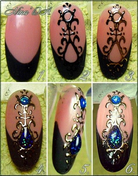 Дизайн ногтей с камнем фото