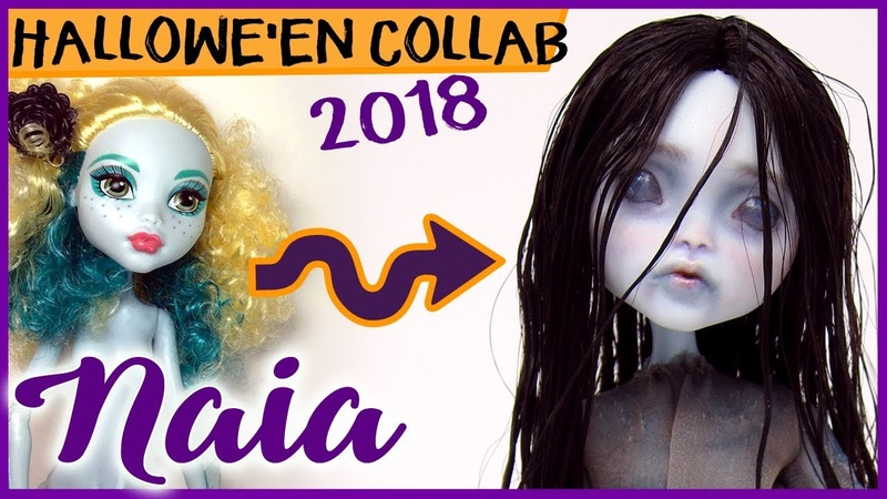 NAIA ~ Monster High Lagoona Repaint 🧜🏽‍♀️ HALLOWE'EN COLLAB SPECIAL 🎃👻🧟‍♀️