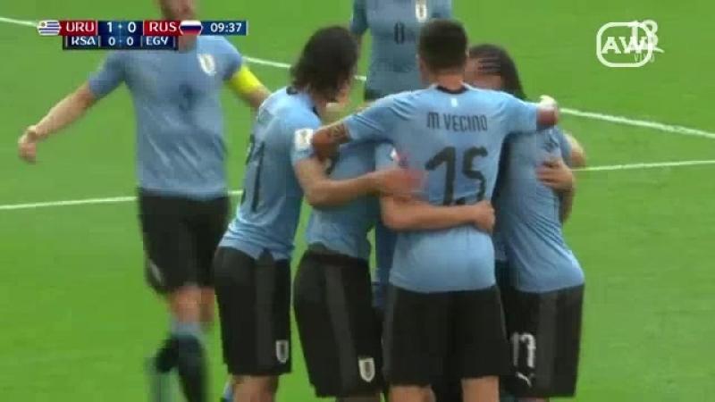 Uruguay 3-0 Rusia - Grupo A - Fecha 3 - Mundial Rusia 2018