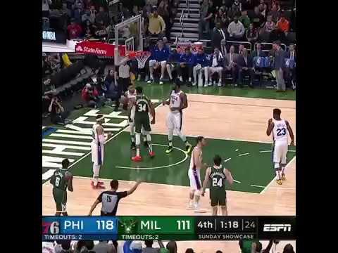 Giannis Antetokounmpo dunks on Ben Simmons but Simmons responds